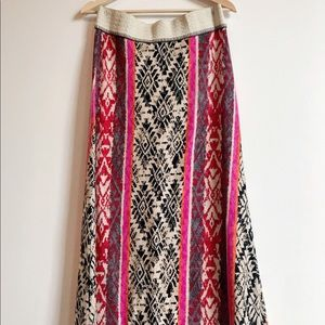 Anthropologie Boho Knit Maxi Skirt